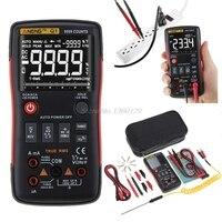 Q1 True RMS Digital Multimeter Auto Button 9999 Counts Analog Bar Graph AC/DC Voltage Ammeter Current Ohm Transistor Tester XJ36