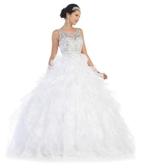 bfd3c9406 2018 blanco moda fuera del hombro con cuentas de tul faldas desmontables  vestidos de quinceañera vestidos