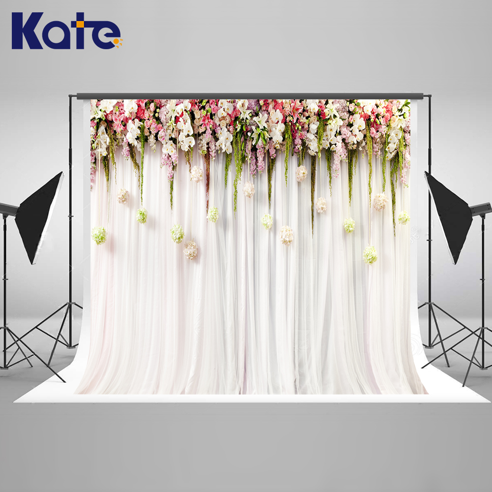 купить KATE Photo Background Wedding Backdrop 10FT Flower Studio Backgrounds Backdrops Stage Party Fantasy Camera Fotografie Achtergron по цене 1205.43 рублей