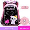 Детский рюкзак принцессы с кошкой  школьные сумки для девочек  мультяшная детская школьная сумка  детские школьные рюкзаки  рюкзаки  Детски...