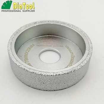 diatool dia75mmx30mm hand held grinding wheel vacuum brazed diamond flat grinding wheel profile wheel for stone artificial stone DIATOOL Dia75mmX20mm Vacuum Brazed Diamond Flat Grinding Wheel/ Profile Wheel For Stone Artificial Stone Ceremics Concrete