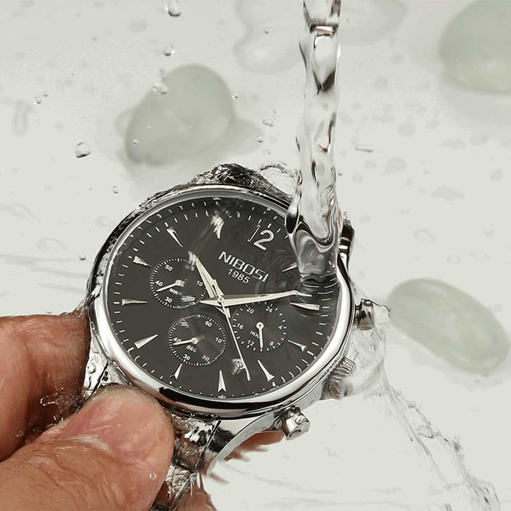 NIBOSI 高級ブランド腕時計メンズスポーツ腕時計防水クォーツ時計男性軍事腕時計レロジオ Masculino montre 2019 Saat