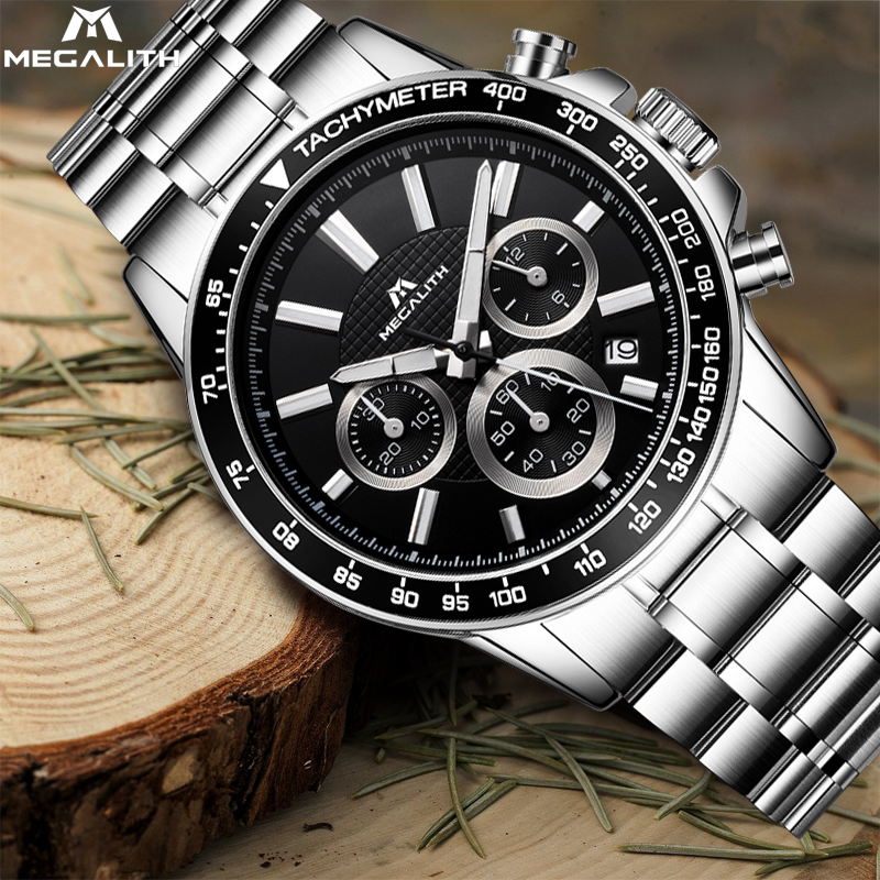 MEGALITH  Luxury Famous Top Brand Watches MenS Fashion Relogio Masculino Casual Date Watch Military Quartz Wristwatches SaatMEGALITH  Luxury Famous Top Brand Watches MenS Fashion Relogio Masculino Casual Date Watch Military Quartz Wristwatches Saat
