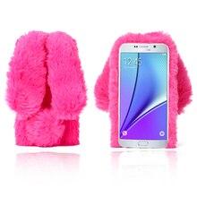 3D słodziutki futrzany królik etui do Samsung
