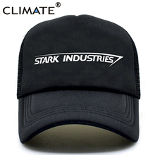 CLIMATE Stark Industries Trucker Cap Iron Man Hats Tony Avengers Summer Hip Hop Mesh Cool Caps Hat for Men Women
