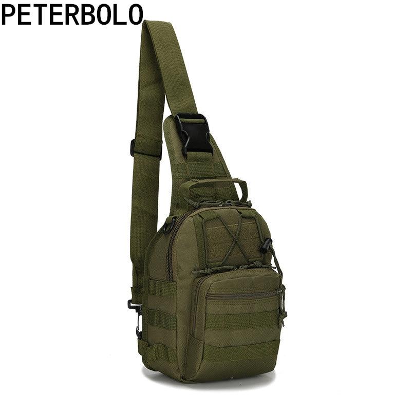 Peterbolo Men's Oxford Multifunctional Camouflage Chest Bag Shoulder Bag Travel Bag Small Bag