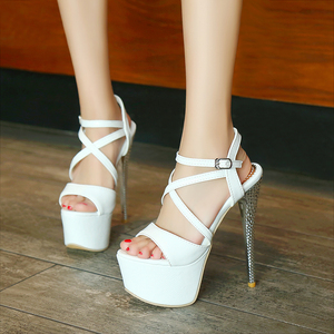 Image 5 - LANYUXUANขนาดใหญ่31 48รองเท้าแตะแพลตฟอร์มสุภาพสตรีแฟชั่นพรรครองเท้าเซ็กซี่เปิดนิ้วเท้าซุปเปอร์ส้นสูง(16เซนติเมตร)รองเท้าผู้หญิงปั๊ม202