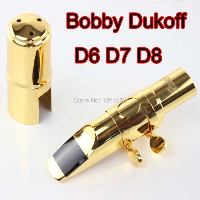 Bobby Dukoff Professional Metal Saxophone Mouthpiece D6 D7 D8 Alto Sax Mouthpiece Gold Silver Musical Instruments