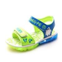 Livraison gratuite d'été LED enfants chaussures bleu/vert/rouge clignotant enfant bottes filles et garçons sandales enfants chaussures filles chaussures