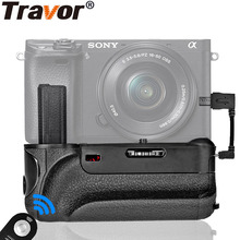 Travor Battery Grip with IR Perform Cable Connector for Sony Alpha A6000 Digital camera