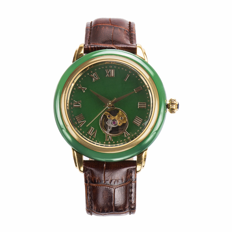 2019 Top Fashion Direct Selling Hotan Jade Watch Man Sapphire Glass Waterproof Automatic Mechanical