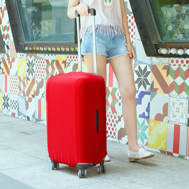 18-30 Inch Solid Elastic Luggage Cover/protector Pure Candy Color Suitcase Dust Cover 8 Colors Travel Use