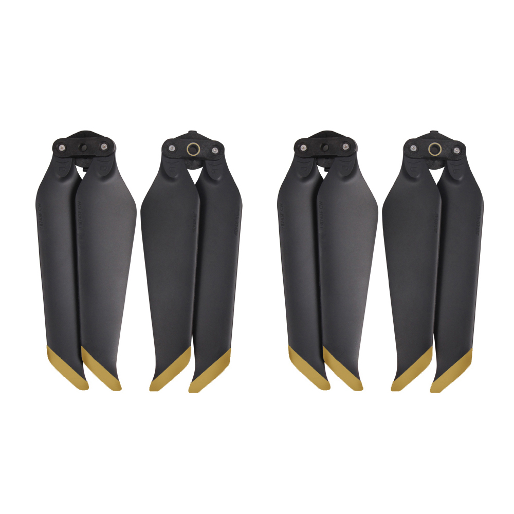2Pairs 8743 CW CCW Propeller for DJI Mavic 2 Pro Zoom 8743F Low Noise Propellers Quick-Release Drone Blade Prop Gold Nonoriginal