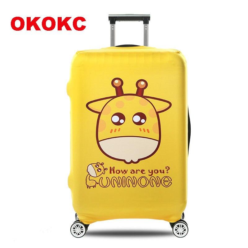 OKOKC Дельфин толстый Чемодан крышка Дорожный чемодан защитная крышка для 18-30 Чехол Эластичный, дорожные аксессуары