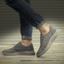 Genuine Leather Shoes Men Cow Leather Casual Shoes Male Outdoor High Quality Men Flats Fashion Style Lace-Up Man Footwear недорого