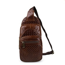 MVA Vintage Men bags genuine leather chest pack cowhide chest pack men messenger bag crossbody bags leather bag travel