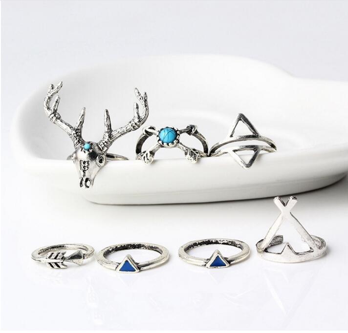 HTB1ZQquPXXXXXaNaFXXq6xXFXXX1 7-Piece Indian-Inspired Boho Ring Collection