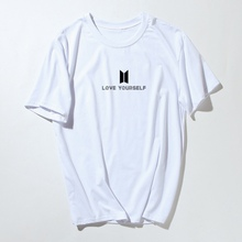 BTS Women Tshirt Tops Short Sleeve Bangtan Boys Kpop Love Yourself Unisex Tee Shirt Femme Cotton Summer Fashion Hip Hop T Shirt
