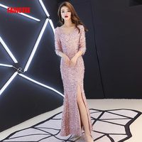 FADISTEE New arrival evening elegant prom dresses lace Wedding Party Dress Mother of the Bride Dresses mermaid half sleeves