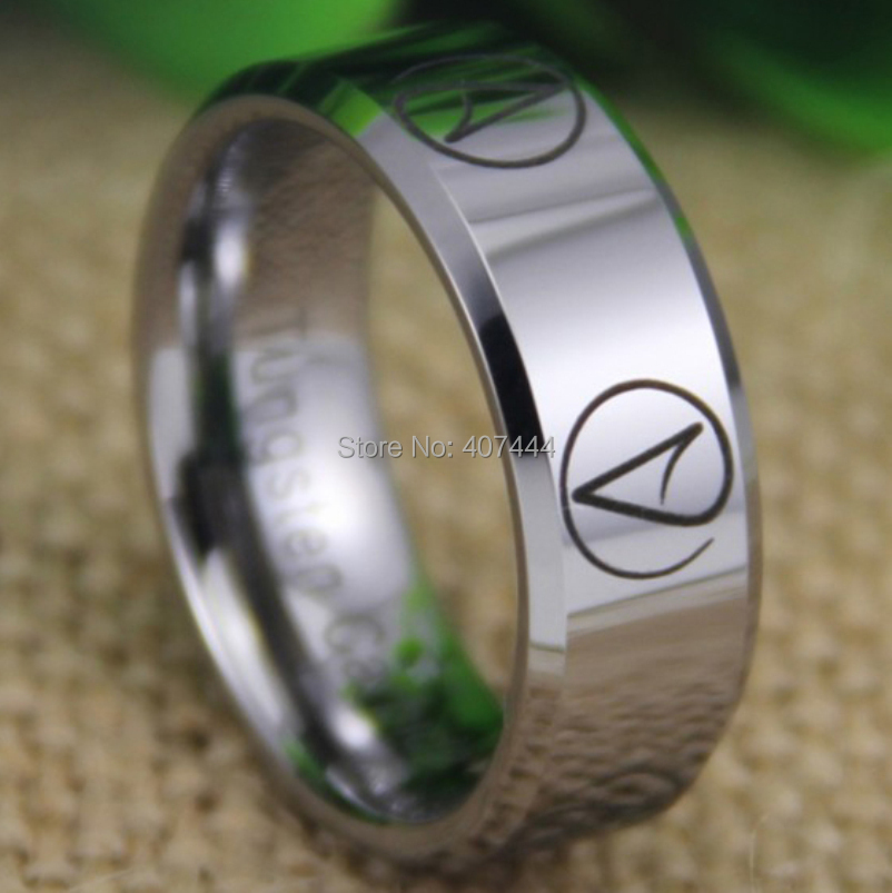 Free Shipping USA UK Canada Russia Brazil Hot Sales 8MM Silver Beveled Multiple Atheist Design New Men's Tungsten Wedding Ring iced earth iced earth incorruptible 2 x 10 cd