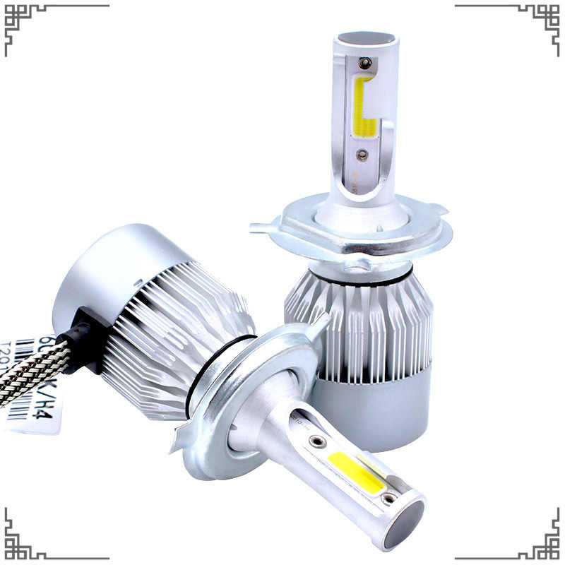 2 Pcs H4 H7 H1 LED Car Headlights Bulb Vehicle COB Led Lamp For 880 881 9004 9005 9006 H10 Automobiles High Low Beam Headlights