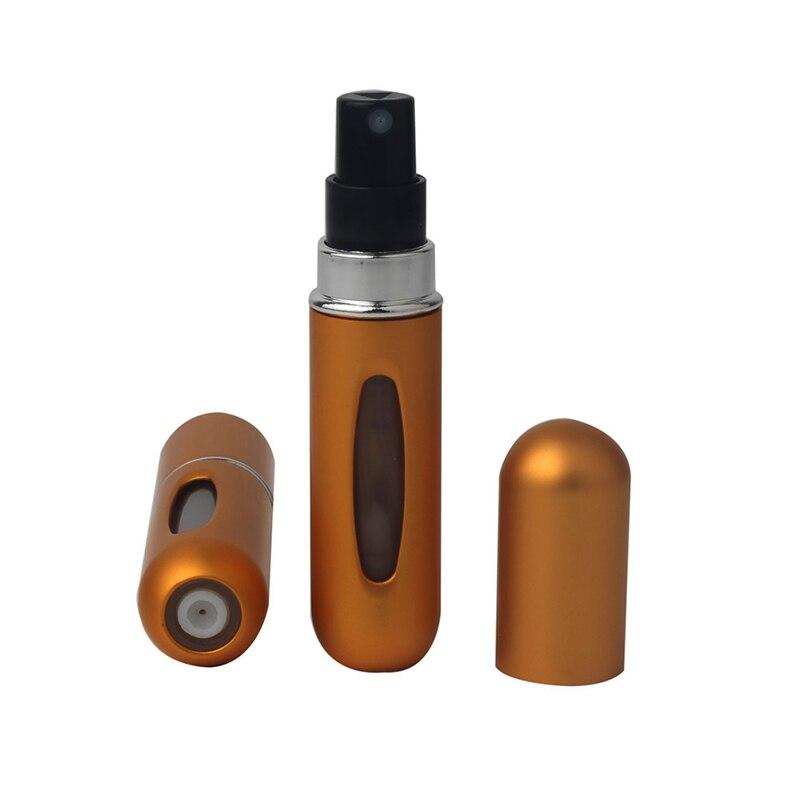 5 мл портативный мини многоразовый флакон для духов с распылителем ароматный насос пустые косметические контейнеры распылитель бутылка для путешествий Новинка - Цвет: Gold