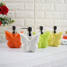 Fashion Butterfly Ceramic Creative Hand Washing Liquid Bottle Home Hotel Press Package Lotion Bottling Lovely Flower Decoration