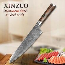 """2016 XINZUO 8 """"kochmesser high quality mode Japanische VG10 damaststahl küchenmesser mit farbe holzgriff Kostenloser versand"""