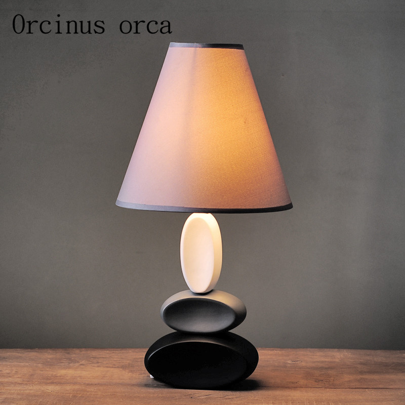 Nordic desk bedroom bed creative American ceramic simple modern warm study decorative table lampNordic desk bedroom bed creative American ceramic simple modern warm study decorative table lamp