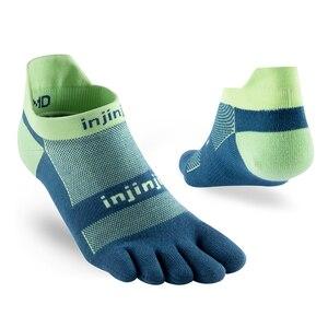 Image 2 - Injinji Fünf finger sport mann turnschuhe Socken Low cut Leichte Dünne Lauf Sport COOLMAX Schweiß absorbent Schnell trocknen Yoga