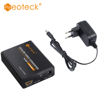 SCART To HDMI Converter 1080P Adapter 3 5mm Headphone Stereo With Charging Adapter Digital Video Audio