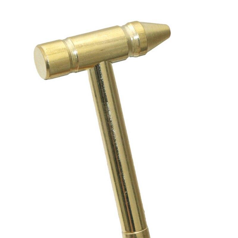 Fashion Mini Screwdriver Hammer 6 In 1 Multifunction Metal Bit Pocket DIY Tools Watch Jewelry Repair Kit Walnuts Hammers LB88