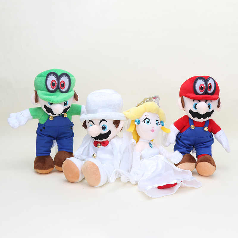 Game Super Mario Odyssey COSPALY Hat Roleplay Cap mario and peach wedding  Stuffed toys Cappy Peach Princess Plush Child toy gift