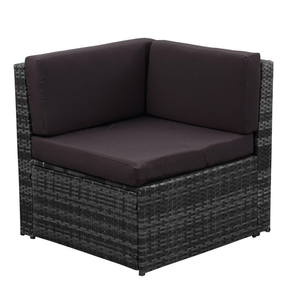Beau IKayaa 7PCS Cushioned Outdoor Patio Garden Furniture Sofa Set Ottoman Corner  Couch Sectional Furniture Rattan Wicker DE Stock In Garden Sets From  Furniture ...