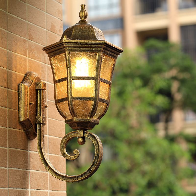 Outdoor waterproof wall lamp balcony modern European corridor villa retro corridor stairs Chinese led wall light ZA418729 asgharali raneen