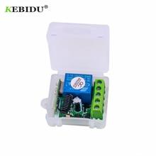 KEBIDU 433 МГц беспроводной пульт дистанционного управления DC 12 В 1CH реле 433 МГц модуль приемника для обучения код передатчик дистанционного управления
