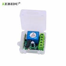 KEBIDU 433 Mhz bezprzewodowy pilot przełącznik DC 12V 1CH przekaźnik 433 Mhz moduł odbiornika dla kod nauki nadajnik zdalnego