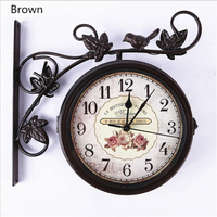 Outdoor Garden bird Double sided Wall Clock Modern Design Wall Clock Wall Clock For The Living Room Silent Wall Clock