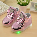2016 autumn and winter cat love princess children 's shoes LED light shoes girls' boots foreign trade models children' s shoes