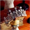 Серебро aaa кристалл циркона диадемы свадебные аксессуары для волос свадебные украшения кубического циркония короны, тиары t496