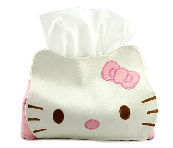 1PC Creativo Design Tissue Box Design Casa Carino Asciugamano di carta Tube Hello Kitty Tissue Box LB 261