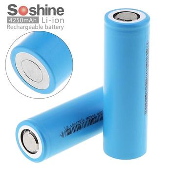 2pcs Soshine 3.7V 21700 40A 4250mAh 14.8W Li-ion Rechargeable Battery with Safety Relief Valve for Electric Tool  Headlamp