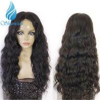 SHUMEIDA прозрачное кружевное бразильское кружево Передние парики средняя часть Remy человеческие волосы парики Волнистые 13*6 кружево спереди па