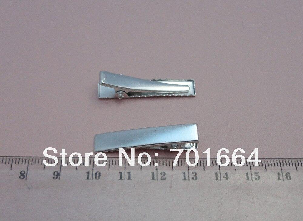 """50 шт. 3,5 см 1,3"""" серебряный прямоугольник обычный Металл Аллигатор зажимы для детей девочек diy с зубами без свинца и никель бесплатно"""
