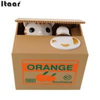 Itazura Automatic Stealing Coin Cat Kitty Coins Penny Cents Piggy Bank Saving Box Money Box Kids