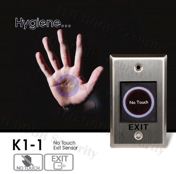 Buton senzor infraroșu Indicație LED Fără buton tactil PENTRU Sistemul de control al accesului