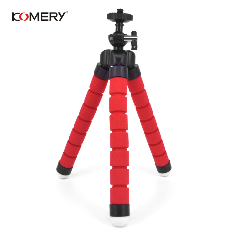 Image 4 - KOMERY Mini Flexible Sponge Octopus Tripod For iPhone Xiaomi Huawei Smartphone Tripod for Gopro Camera With Phone Clip Holder-in Live Tripods from Consumer Electronics