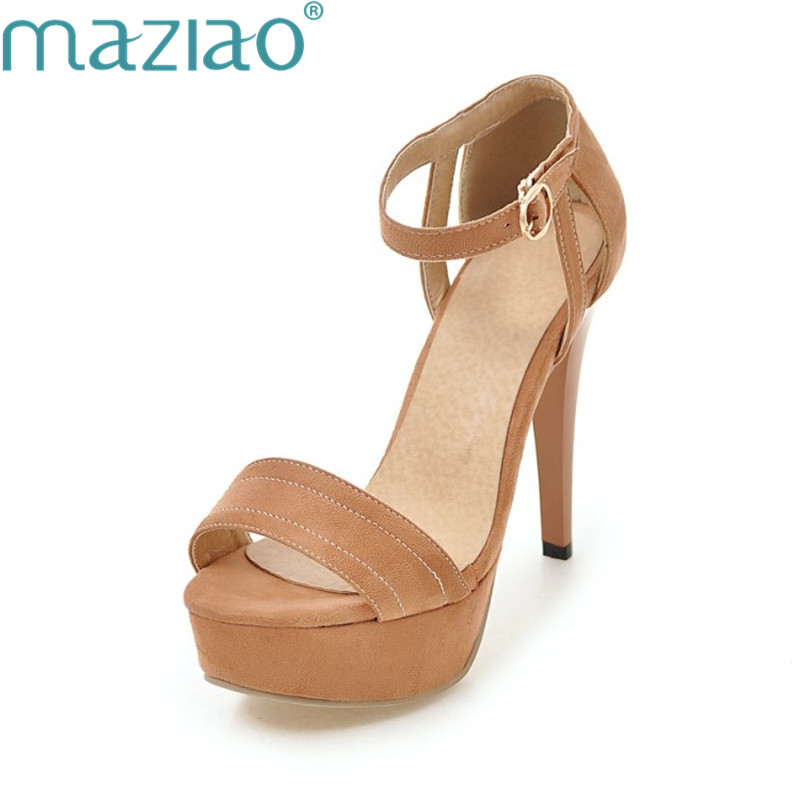 bcde3ed8a5 Sapatos Plataforma Pé Sexy D  Mulher Maziao Festa Camurça preto Super Prova  vermelho Dedo Do Sandálias ...