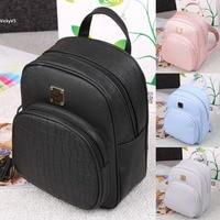 New Korean Fashion PU Leather Shoulder Bag tassel BackpacksCrocodile Pattern Small leisure Backpack Embossed School Bags