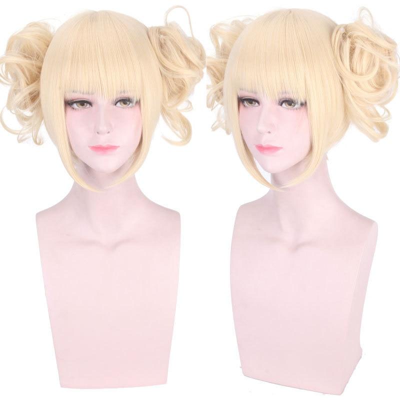 Anime Boku No Hero Academia Cross My Body Wig Cosplay Costume My Hero Academia Himiko Toga Synthetic Hair Party Role Play Wigs